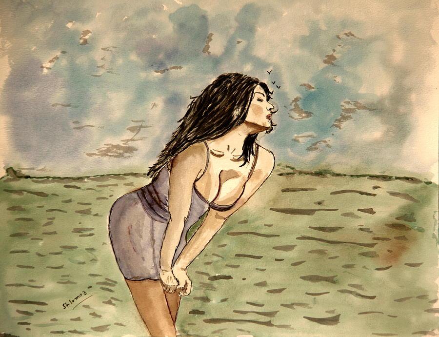 Nude Framed Prints Painting - Zina Passion by Shlomo Zangilevitch