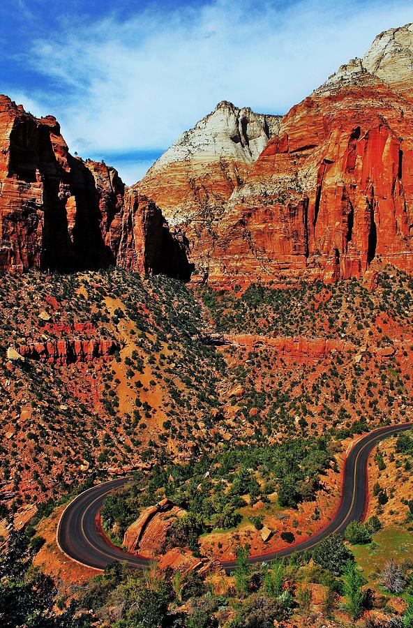 Zion Photograph - Zion Hairpin by Benjamin Yeager