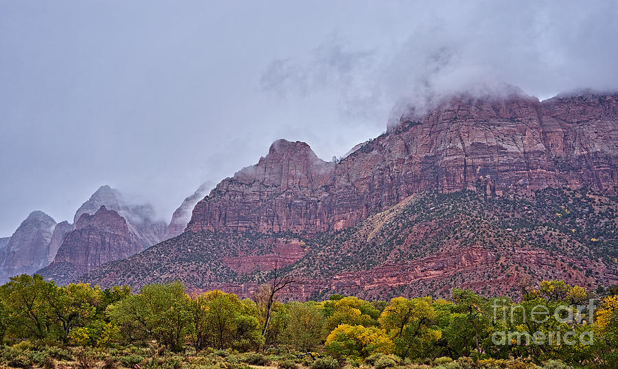 2014 Photograph - Zion In Clouds by Matt Suess