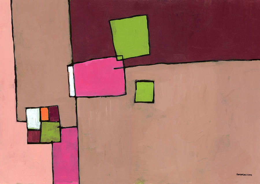 Abstract Painting - Zipless by Douglas Simonson