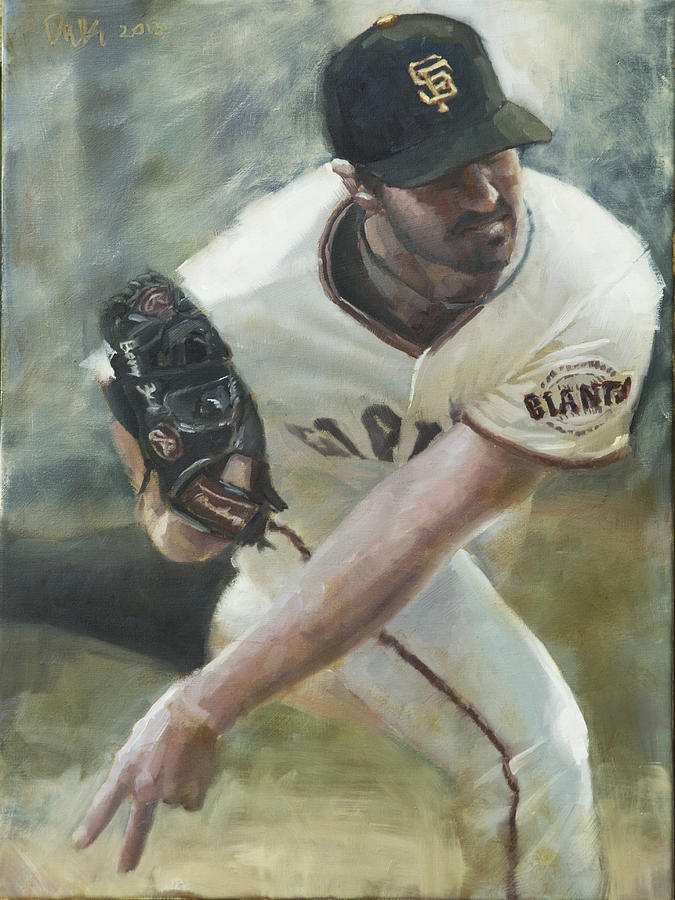 Barry Zito Painting - Zito Delivery by Darren Kerr