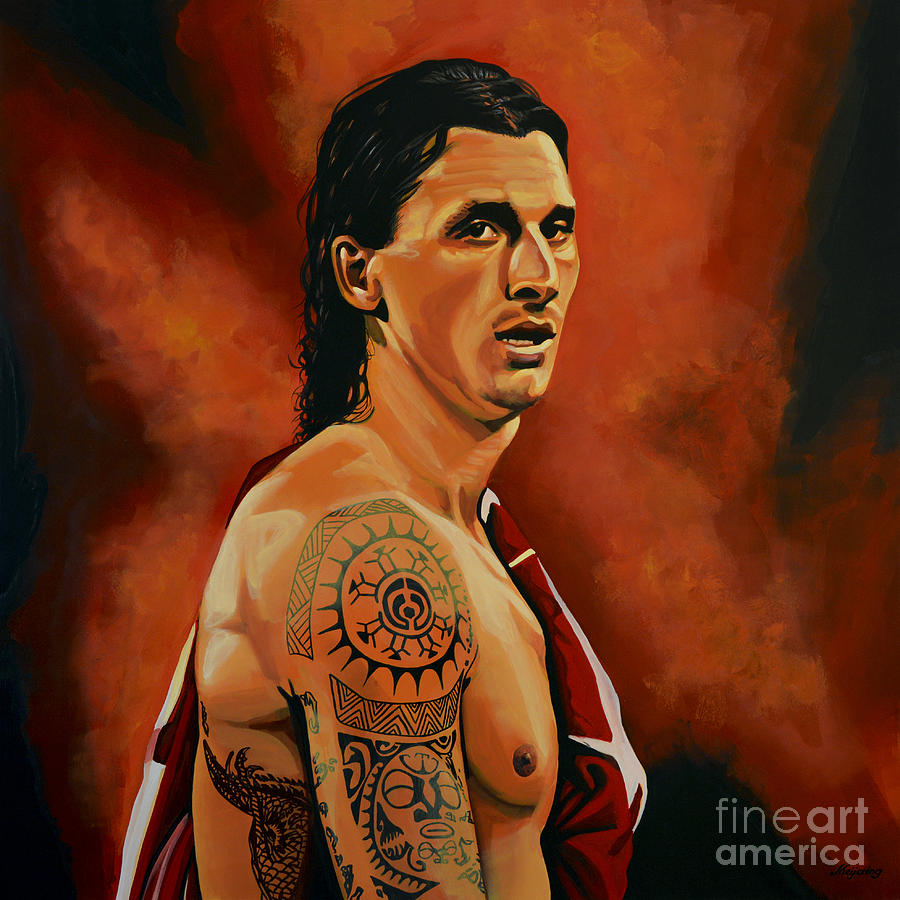 Zlatan Ibrahimovic Painting - Zlatan Ibrahimovic Painting by Paul Meijering