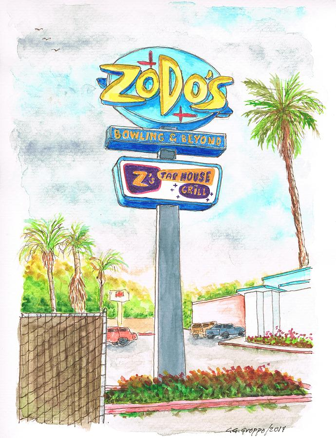 Zodos Bowling And Beyond In Goleta Beach, California Painting