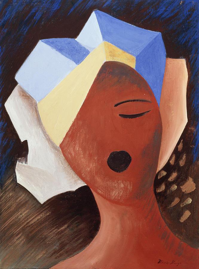 Zoe Chante I Painting by Marie Hugo
