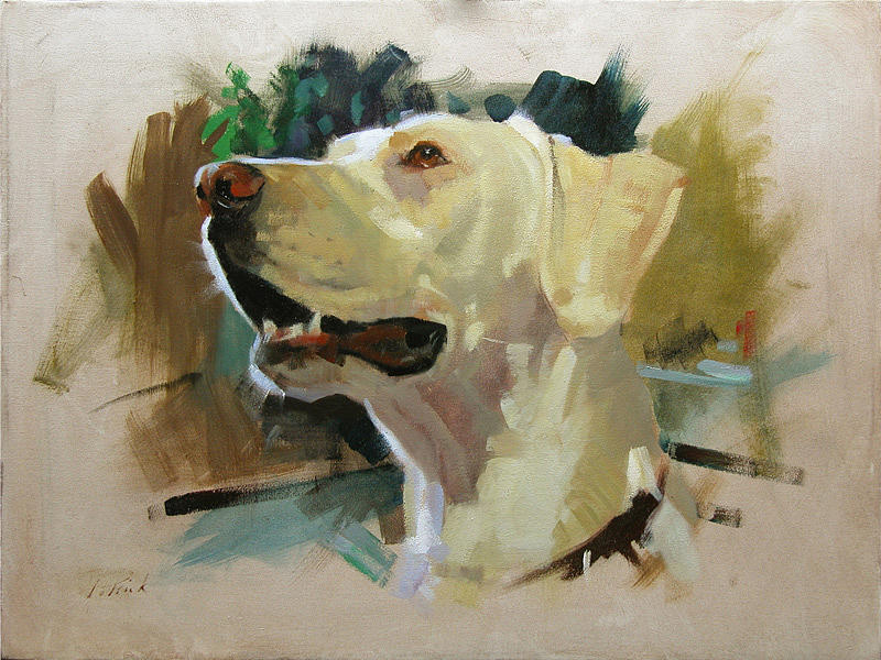 Patrick Saunders Painting - Zoe by Patrick Saunders