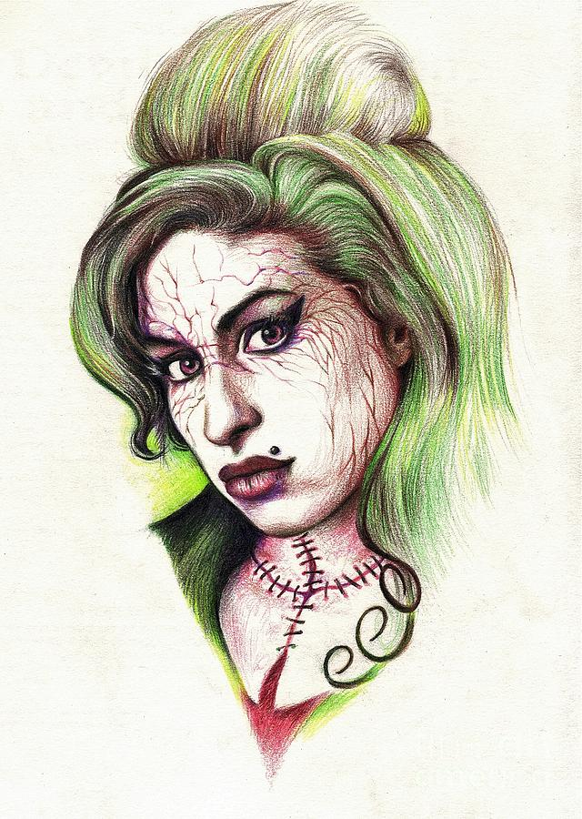 Zombie Amy Drawing by Tim Thorpe