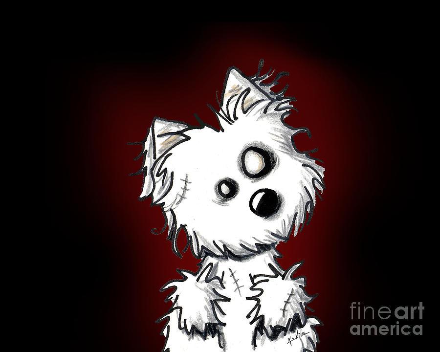 Zombie Digital Art - Zombie Dog by Kim Niles