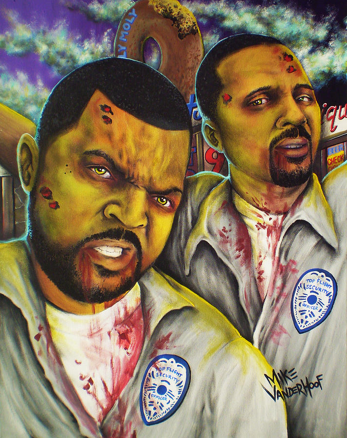 Friday After Next Painting - Zombie Top Flight Security by Mike Vanderhoof