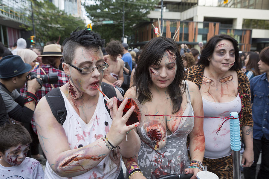 Zombie Walk Vancouver Bc Canada Parade With Zombies September 2015 Photograph by Carterdayne