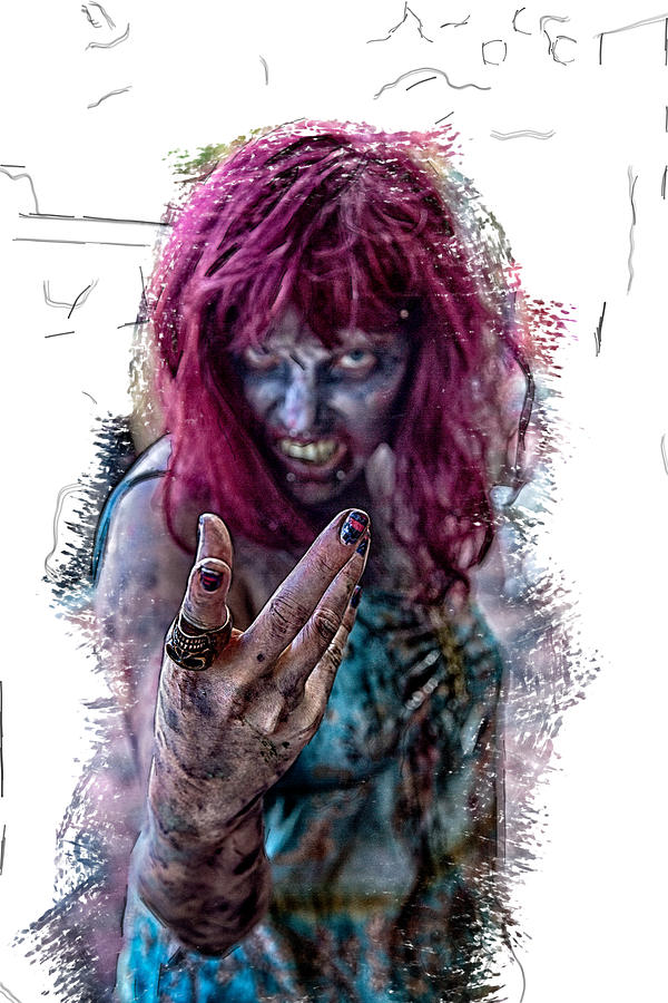 Zombie Horror Photograph - Zombie Want You by John Haldane