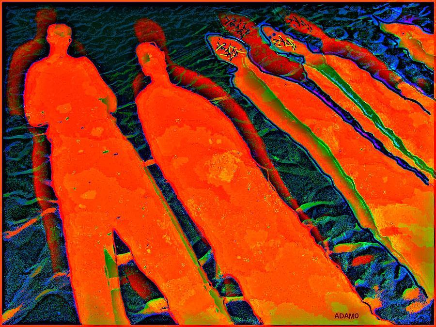 Zone Creepers In  Quntum Timeline Digital Art by Tony Adamo