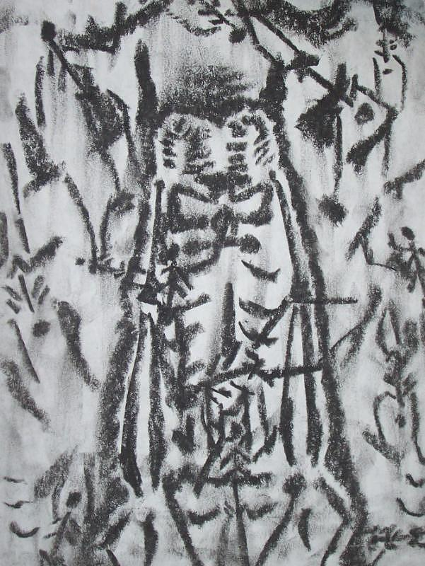 Monster Drawing - Zoomer Extreme Close Up by Steve Spagnola