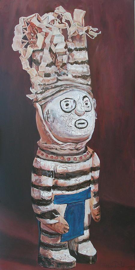 Zuni Painting - Zuni Clown by Christine Lytwynczuk