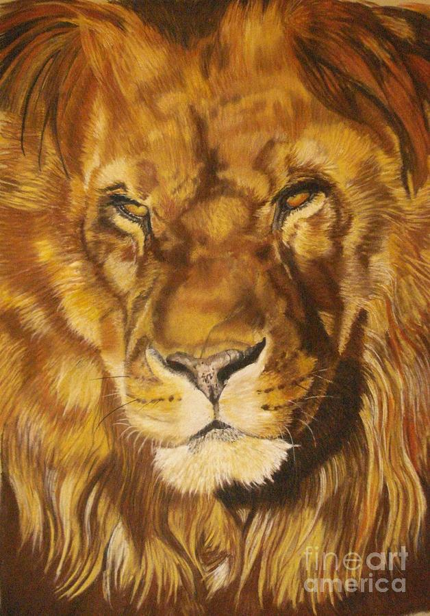 Lion Pastel - Zuri by Ann Marie Chaffin