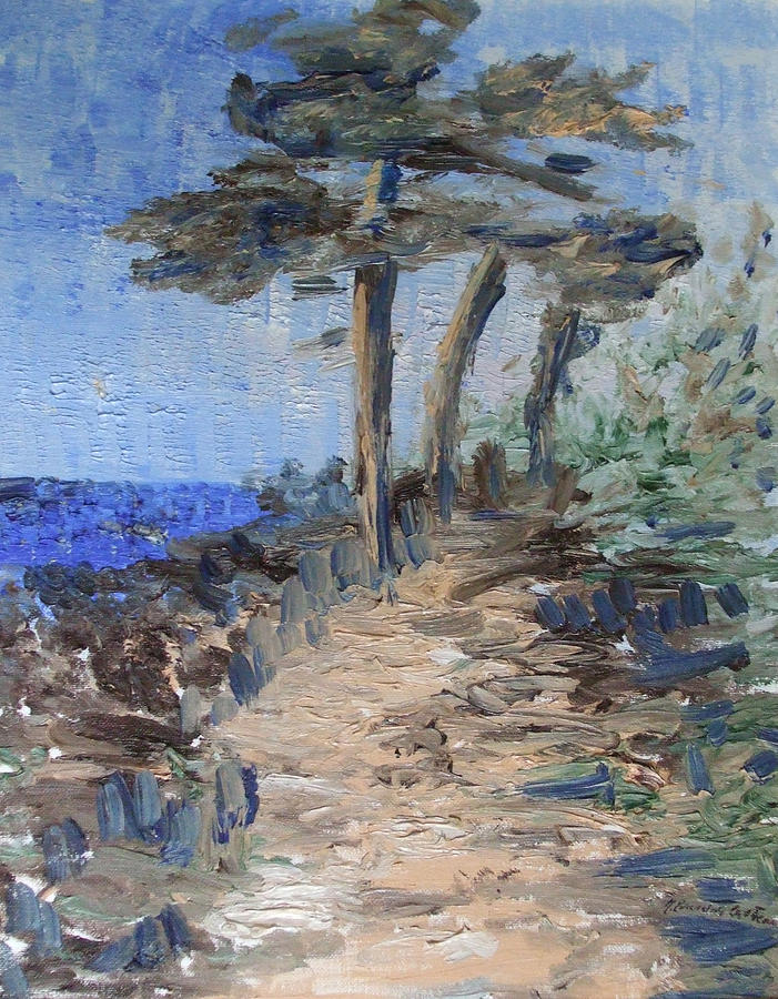 Landscape Painting -  3 By The Sea by Michel Croteau