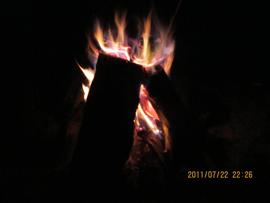 Summer Photograph -  Amazing Bonfire by Tina M Wenger