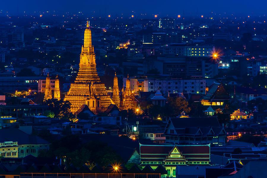 Buddhist Photograph -  Buddhist Temple Wat Arun Rajwararam by Arthit Somsakul