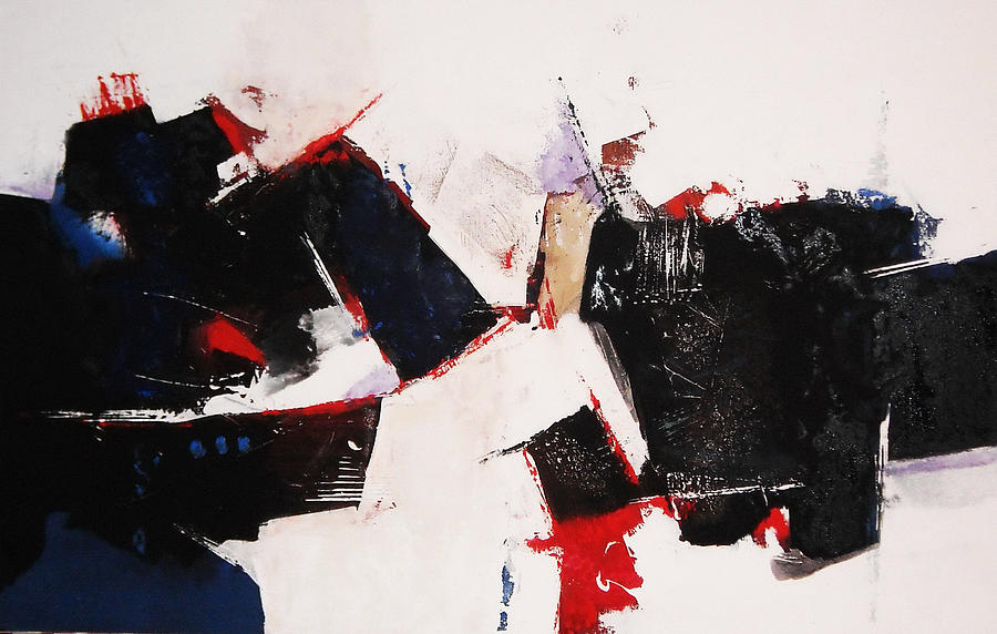 Expressionism Paintings Painting -  Burst by Mohamed KHASSIF
