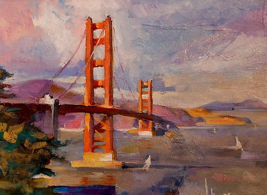 Landscape Painting -  California by Joe Tiszai