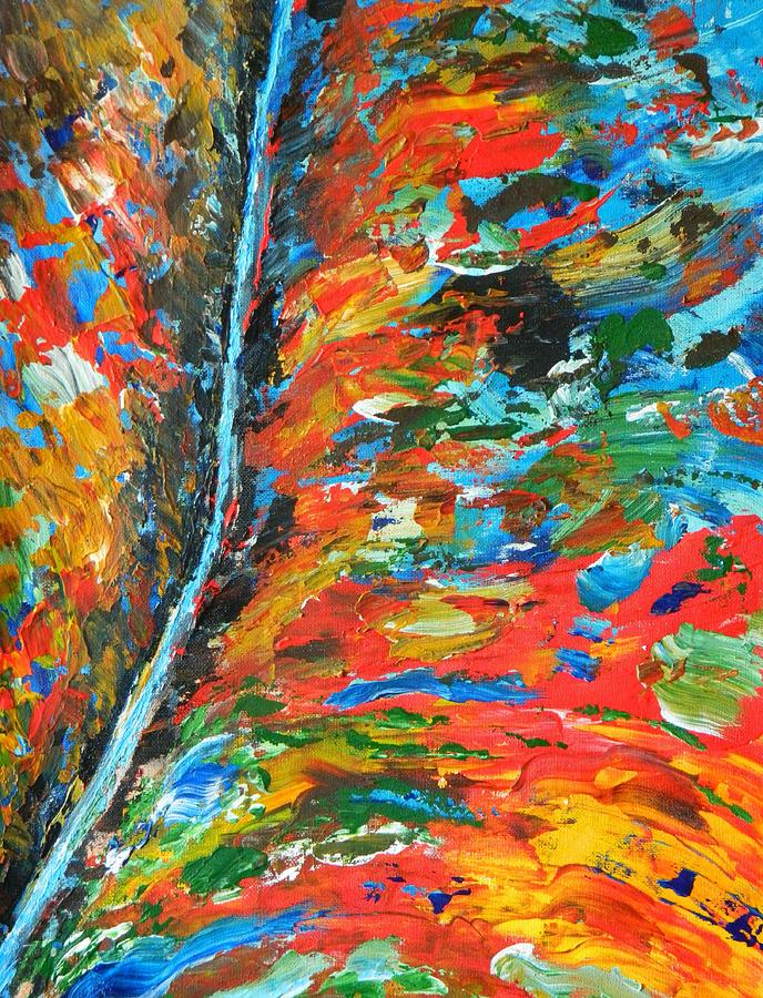 Abstract Painting -  Canyon River by Everette McMahan jr