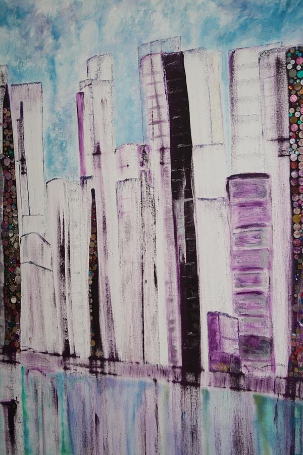 City Painting by Elisabeth Charbonneau
