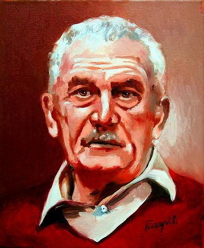 Portrait Painting -  Count Mr Janos Meran by Joe Tiszai
