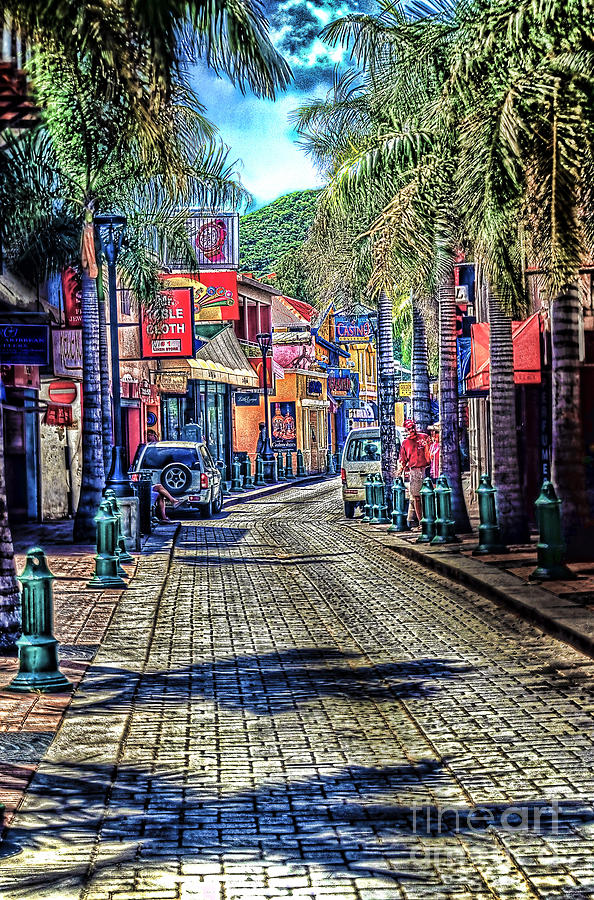 Street Photograph -  Entering Front Street by Arnie Goldstein