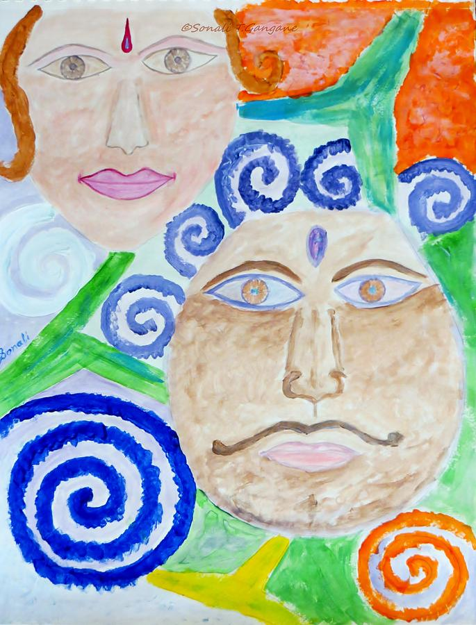 Expresion Painting -  Faces by Sonali Gangane