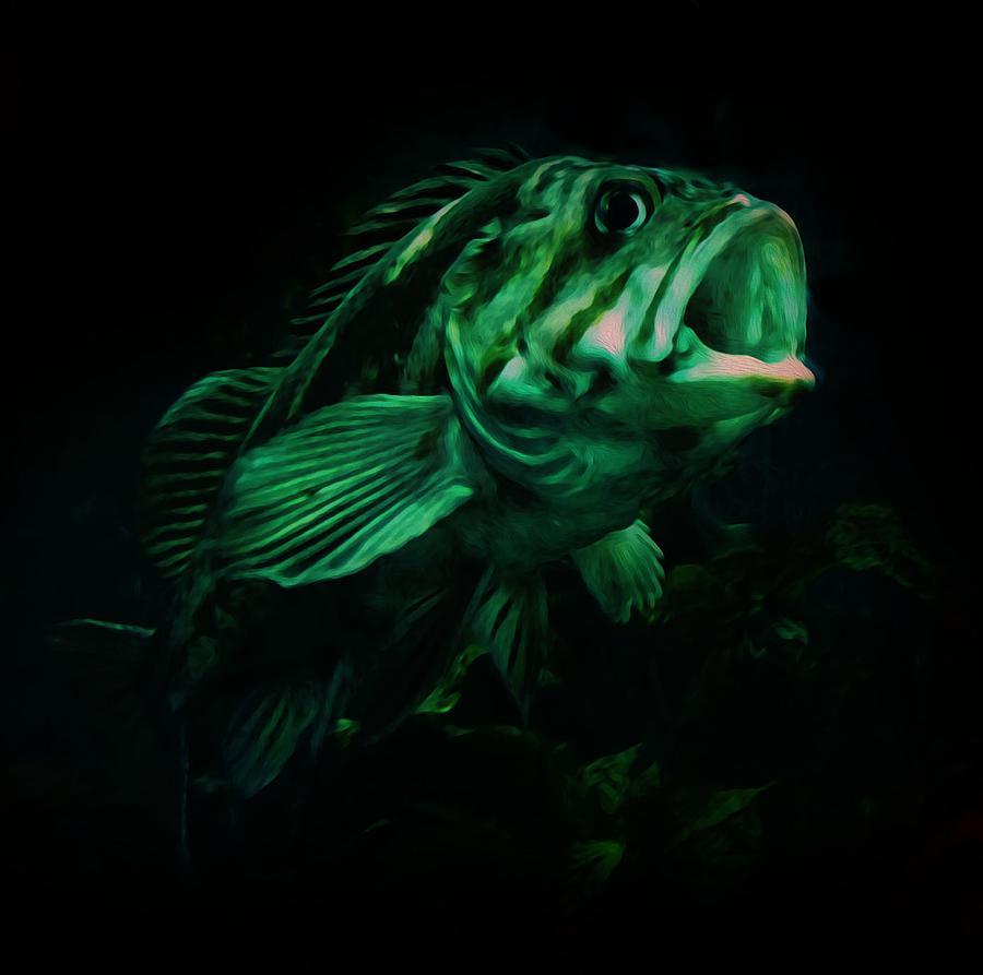 Fish Mixed Media -  Green Fish by Veronica Ventress