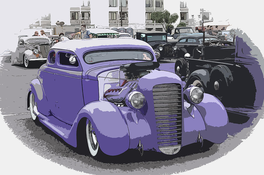 Chopped Photograph -  Hot Rod Purple by Steve McKinzie