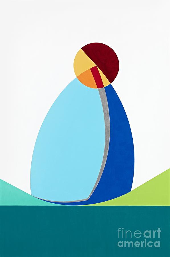 La Terre Est Bleue Comme Une Orange Painting by David Senouf