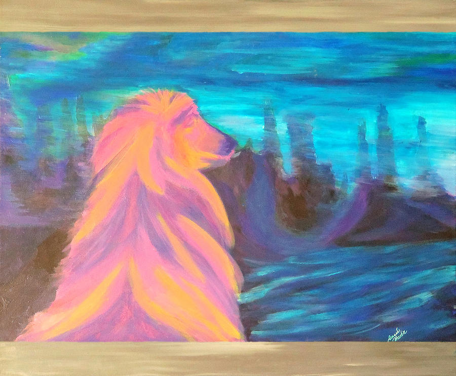 Lassie Painting by Hatin Josee