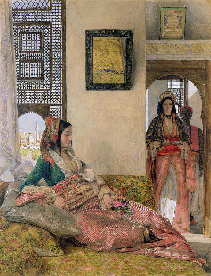 Life In The Harem Painting -  Life In The Harem - Cairo by John Frederick Lewis