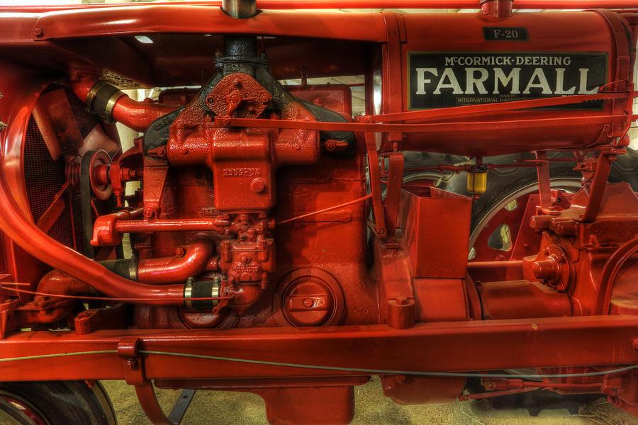Lee Dos Santos Photograph -  Mccormick Tractor - Farm Equipment  - Nostalgia - Vintage by Lee Dos Santos
