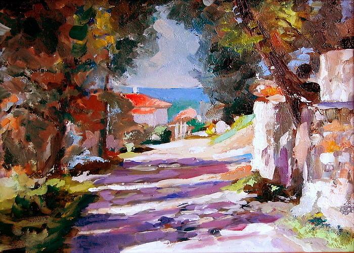 Montenegro Sunshine Painting by Joe Tiszai