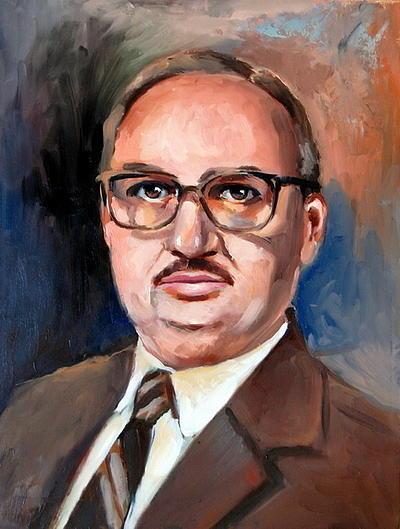 Portrait Painting -  My Dad by Joe Tiszai