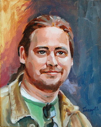 Portrait Painting -  My Son Billy by Joe Tiszai