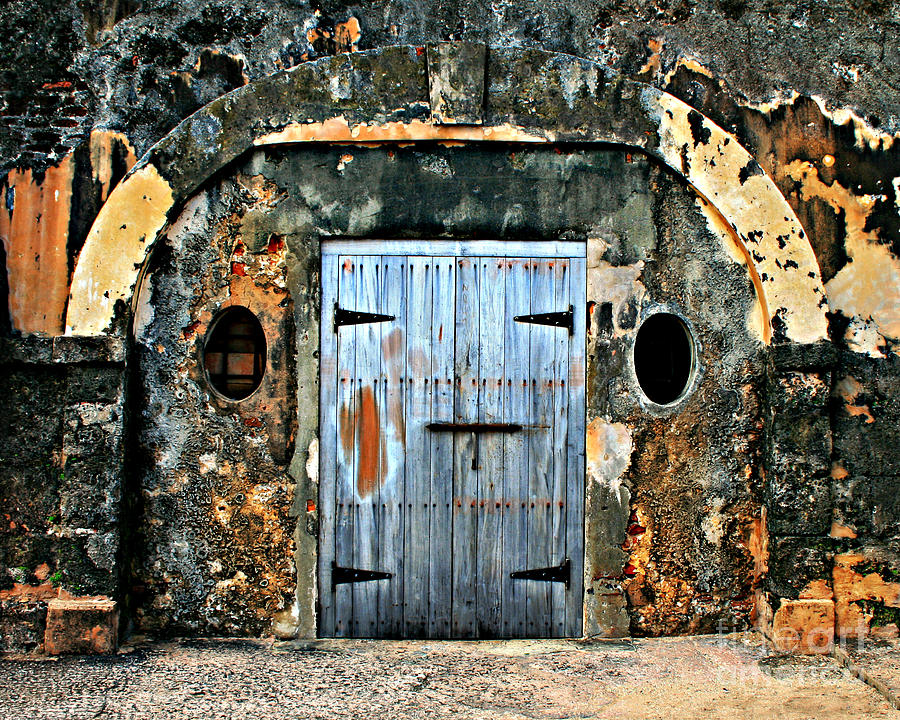 Fort Photograph -  Old Wooden Doors by Perry Webster