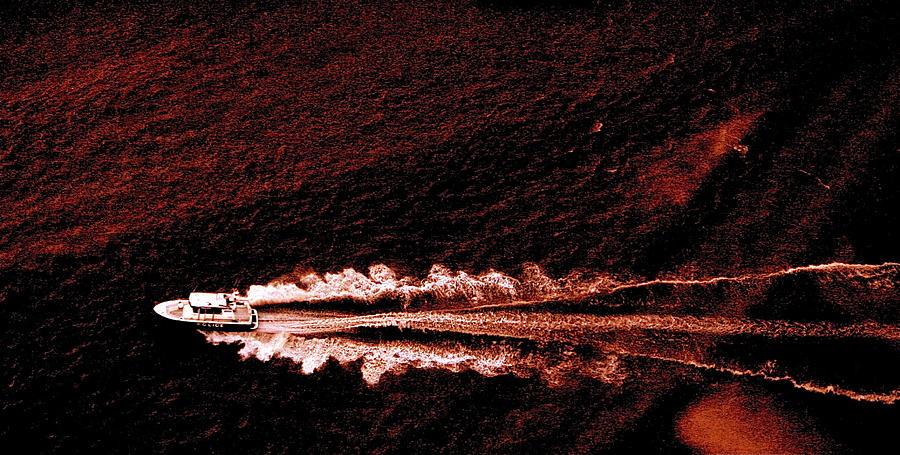 Police Photograph -  Police Boat by Guranda Anchabadze