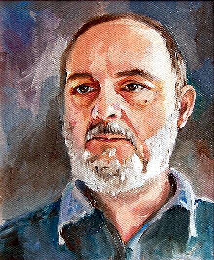 Portrait Painting -  Self Portrait For My Birthday by Joe Tiszai