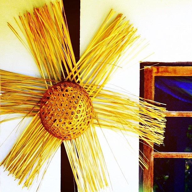 Straw Photograph - * #star #basket #basketweaving by A Rey
