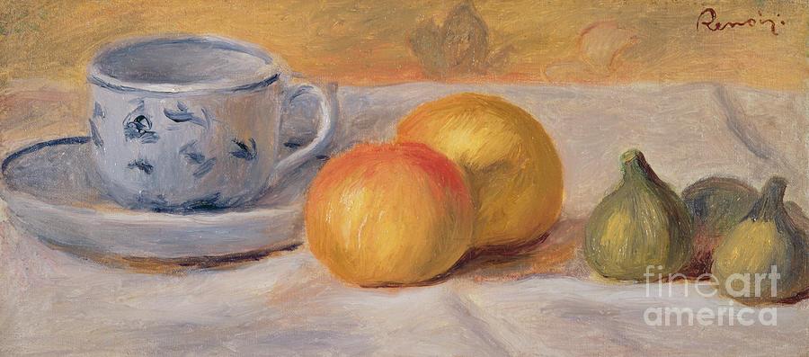 Pierre Auguste Renoir Painting -  Still Life With Blue Cup Nature Morte A La Tasse Bleue by Pierre Auguste Renoir