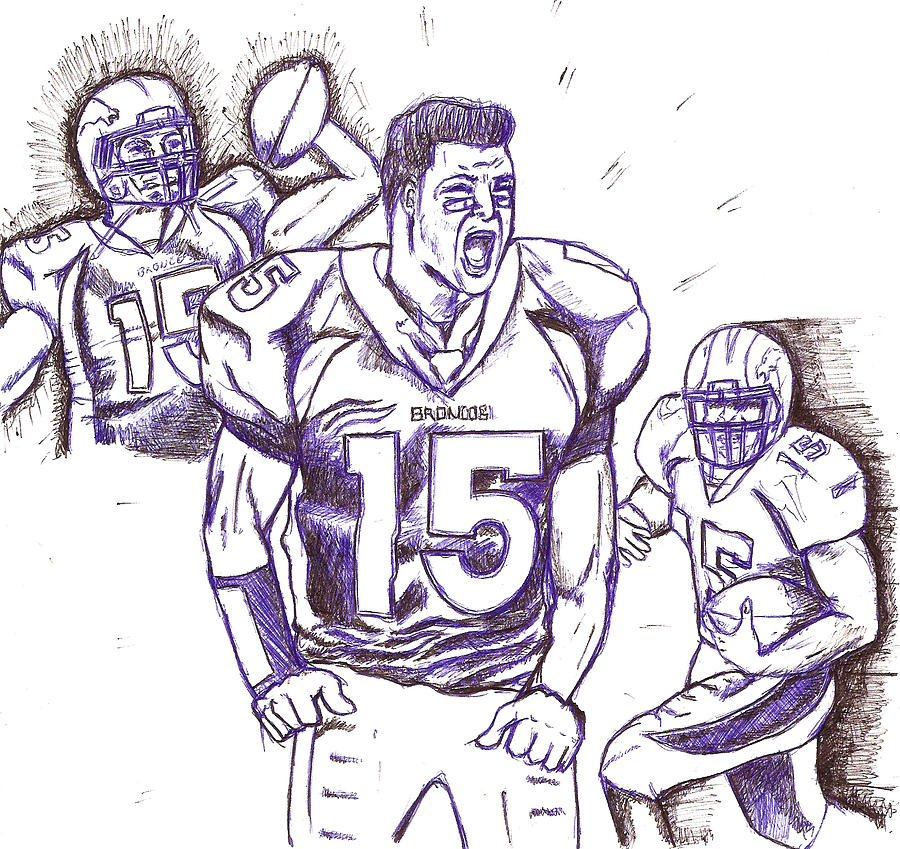 Sports Drawing -  Tebow Time Lets Go  by HPrince De Artist