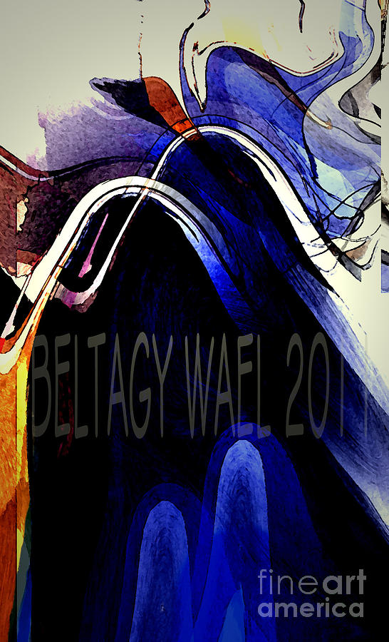 Horse Painting -  The Blue Wave by Beltagy Beltagyb