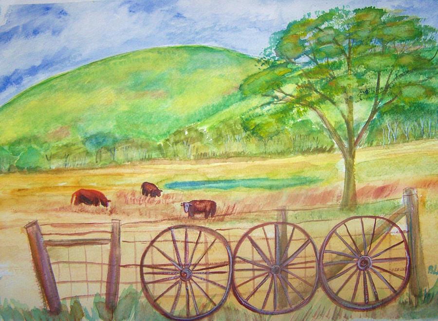 Scenic Landscape Painting -  The Cattle Gap by Belinda Lawson