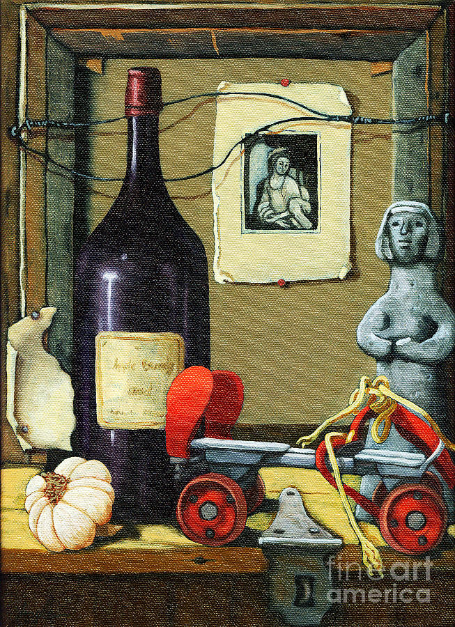 Wine Painting -  The Good Times by Linda Apple