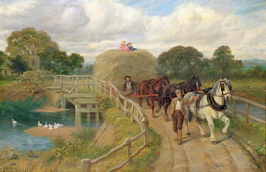 Horse Painting -  The Last Load  by Philip Richard Morris