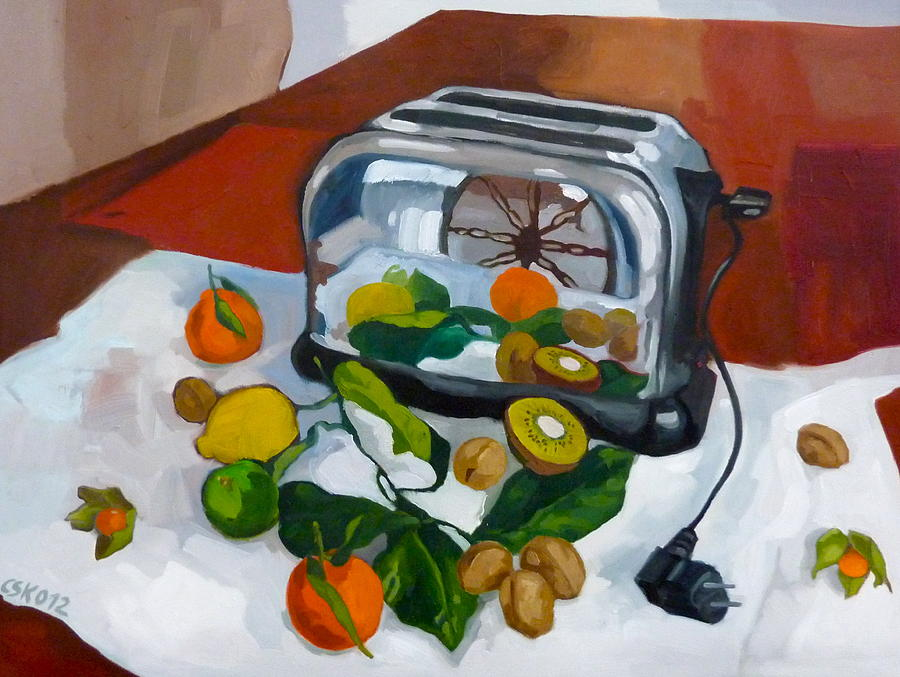Still Life Painting -  The Toaster by Carmen Stanescu Kutzelnig