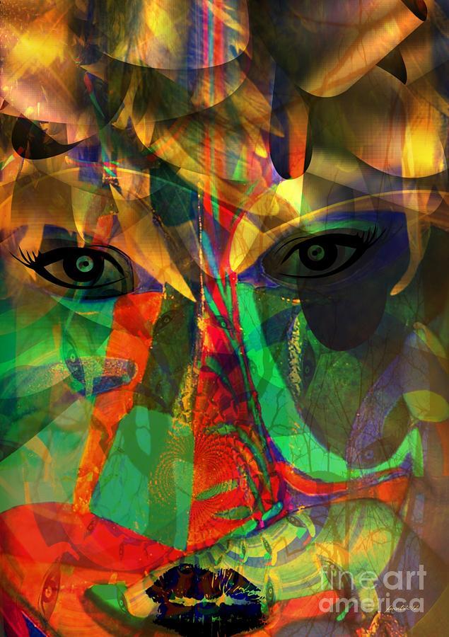 Fania Simon Mixed Media -  Viewing When Light Is On by Fania Simon