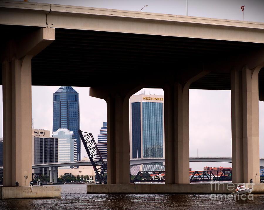 Bridges Photograph -  Welcome To Jacksonville by Richard Burr